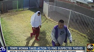 Tempe police searching for men who burglarized home - Video