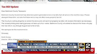 Baltimore County homeowners get incorrect property tax bill - Video