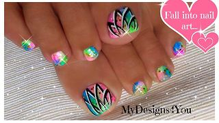How to create a neon toenail art design - Video