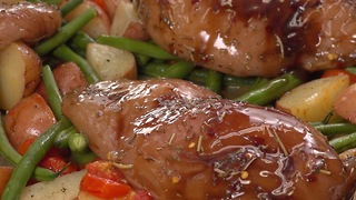 Sweet and simple honey balsamic sheet pan chicken - Video