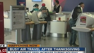 Air travel increases during busy holiday season - Video