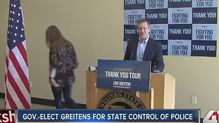 Governor-Elect Greitens for state control of police - Video
