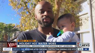 Residents without hot water over the holidays - Video