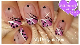 Cute polka dot nail art tutorial - Video