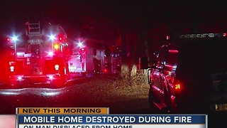 Man unable to return home after moblie house fire - Video