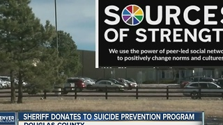 Douglas County Schools suicide prevention program gifted thousands by sheriff's office - Video