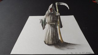 How to draw a 3D Grim Reaper