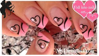 Easy and cute DIY Valentine's Day nail art design
