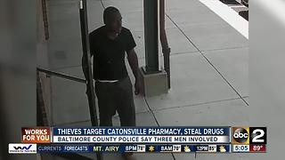 Caught on cam: Three thieves rob Catonsville pharmacy - Video