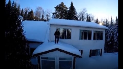 Drone captures boiling water freezing instantly in -24F/-31C weather