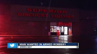 Green Bay searching for robbery suspect