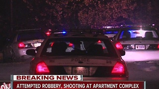 Attempted robbery, shooting at apartment complex - Video