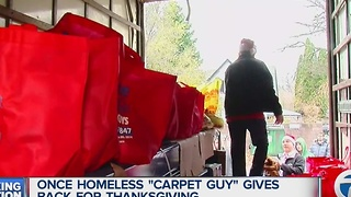 Businessman who went from homelessness to success gives back - Video