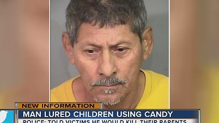Disturbing details released about man who allegedly lured girls with candy - Video
