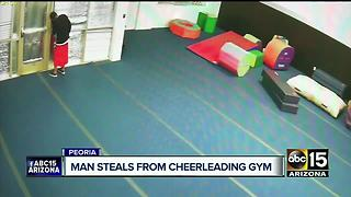 Man caught stealing from Peoria cheerleading studio - Video