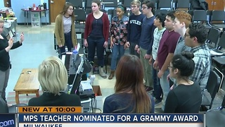 Milwaukee teacher may be nominated for a Grammy Award - Video
