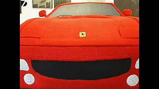 Knitted Ferrari - Video