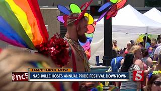 Thousands Attend Nashville Pride Festival - Video