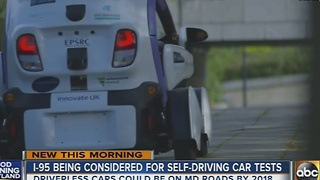 I-95 being considered for driverless car tests in Maryland - Video