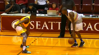 Jamal Crawford Takes on His Son in Pro-Am Game - Video
