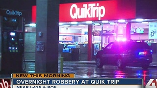 Overnight robbery at QuikTrip in Overland Park - Video