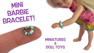 How to make a miniature beaded bracelet for Barbie dolls - Video