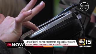 Jason's Deli warning customers of possible security breach - Video