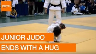 A Judo Knock-Out With a Cuddle - Video
