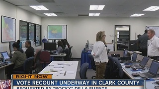 Clark County begins recount after candidate's request - Video