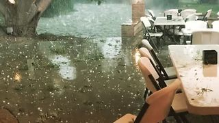 Giant Hail Chunks Rain Down On Southeast Texas - Video