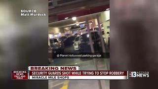 2 security guards shot at Miracle Mile Shops - Video
