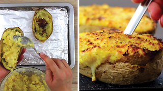 Twice baked stuffed potatoes: a fancy and creative recipe - Video
