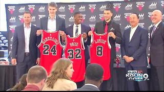 Bulls introduce former Arizona star Lauri Markkanen - Video