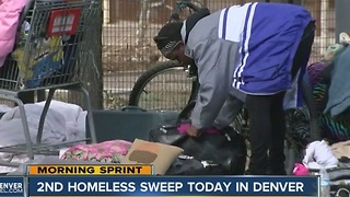 Denver plans second homeless sweep Tuesday - Video