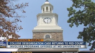 College desegregation case returns to trial in Maryland - Video