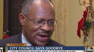 Baltimore City Council meet for last time before new class takes over - Video