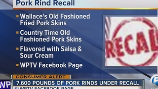 Pork skins shipped to Florida, 4 other states, under recall - Video