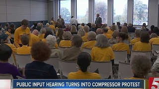 Public Input Hearing Turns Into Gas Compressor Protest - Video