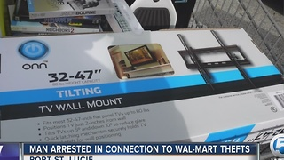 Port St. Lucie police say a man has admitted to shoplifting at several Wal-Mart stores - Video