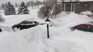 Bismarck Blanketed with Snow - Video