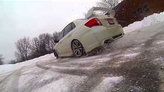 Racing Fun in Snowy Conditions - Video