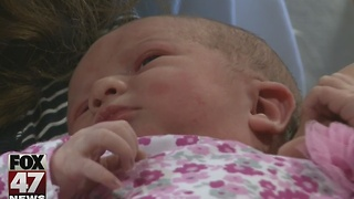 Lansing-area couples welcome first babies of the new year - Video