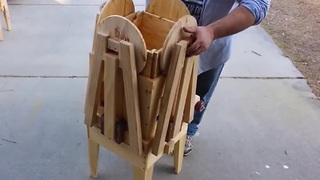 Carpenter Made A Picnic Table That Folds Into A Box - Video