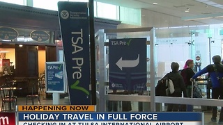 Tulsa International Airport has already seen the worst of this year's holiday travel - Video