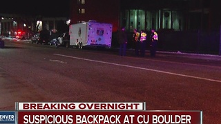 Bomb squad responds to CU Boulder - Video