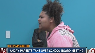 Parents disrupt Lawrence school board meeting - Video