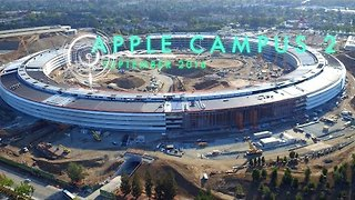Apple Campus 2 Construction Captured by Drone - Video