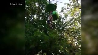 Girl falls from ride at Six Flags New York - Video
