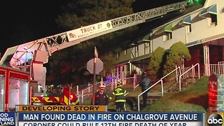 Man found dead in fire on Chalgrove Avenue in Baltimore - Video