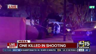 One dead, one in custody after Mesa shooting - Video